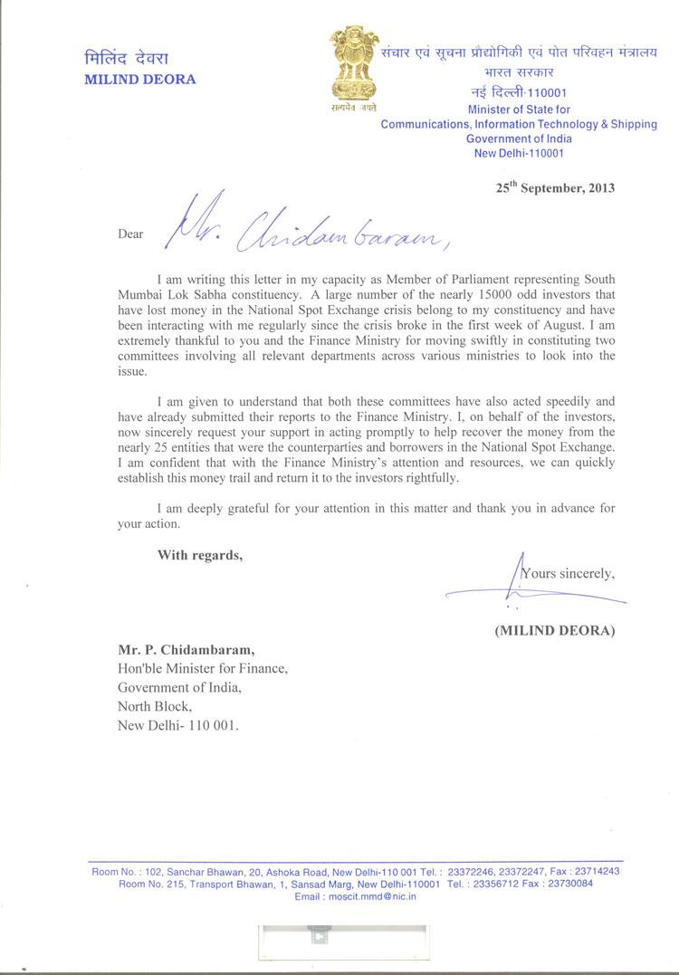 Finance-Minister-Letter