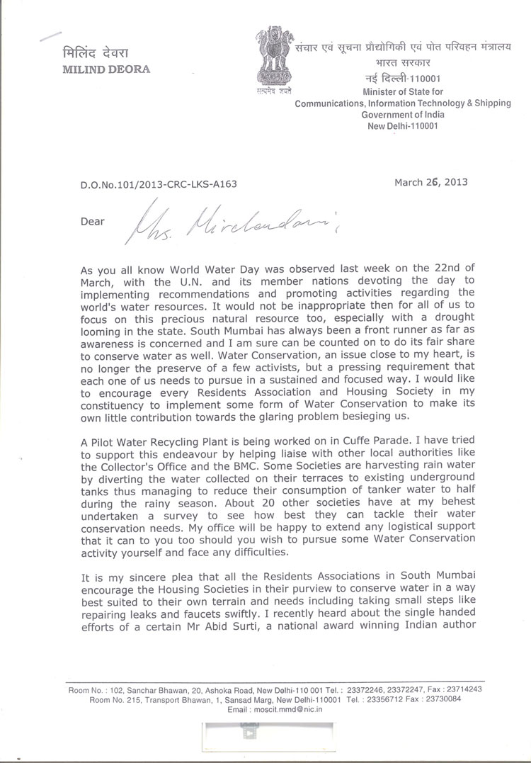 LETTER TO RESIDENTS ASSOCIATIONS Amp HOUSING SOCIETIES