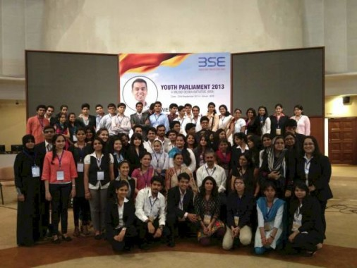 Milind Deora at his Youth Parliament Initiative